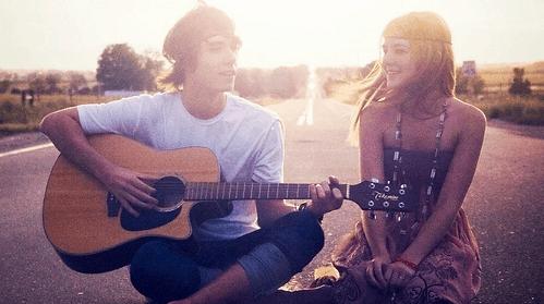 Guitare chanson saint-valentin amour sentimentale