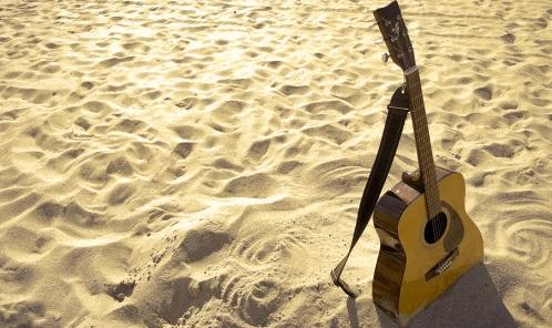 chaud mains moites chaleur été guitare jouer
