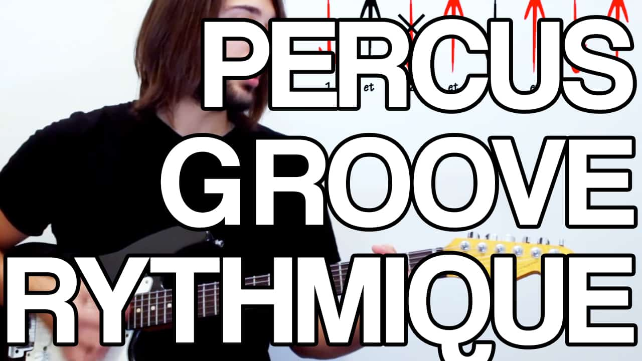 percus groove rythmique ghost-note rythme note morte guitare cours tuto leçon facile