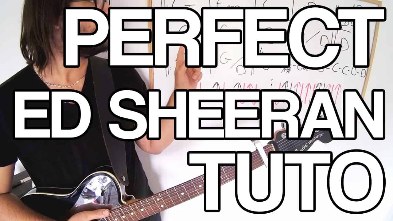 Perfect ed sheeran tuto accords rythmique jouer facile cours vidéo partition et tablature apprendre leçon guitare