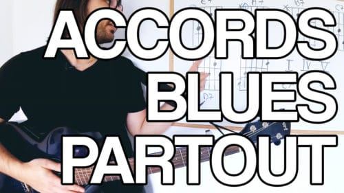 connaître tous les accords blues sur tout le manche facile cours de guitare tuto vidéo apprendre jouer