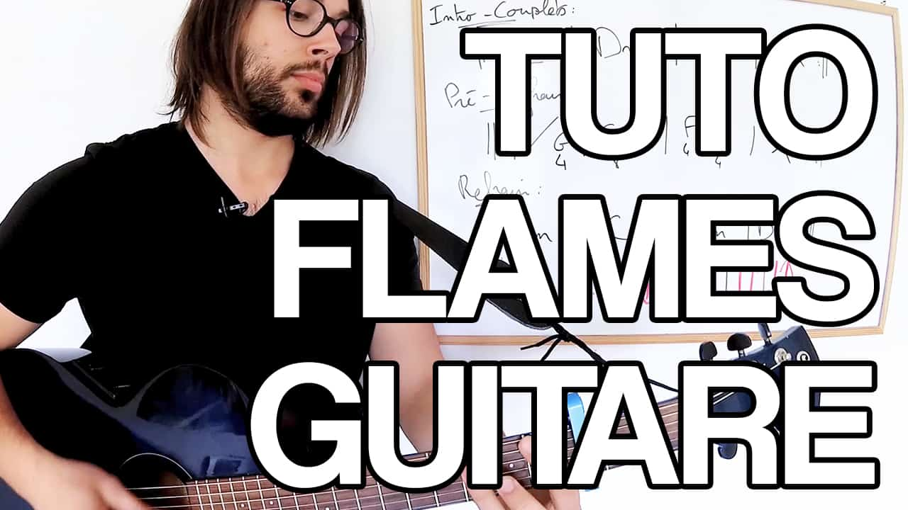 tuto flames guitare jouer david guetta sia facile tablature partition accords apprendre leçon