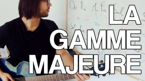 gamme majeure guitare cours leçon video apprendre facile tuto
